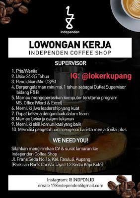 Lowongan Kerja Independen Coffee Shop Sebagai Supervisor
