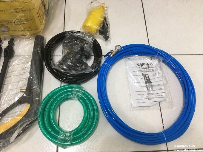 開箱-高壓清洗機加水刀通管器能通水管?