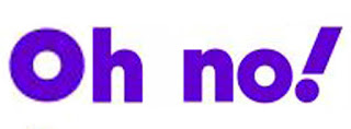 Yahoo logo transformed to read 'Oh no!""