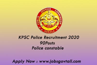 kpsc police requirement 2020@jobsgovtall.com