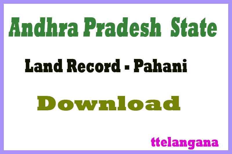 Andhra Pradesh AP Land Records Pahani Download at meebhoomi