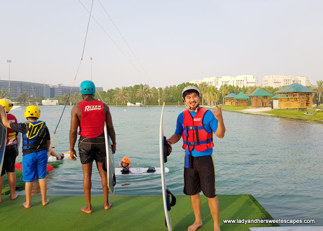Ed in Al Forsan wakeboarding complex