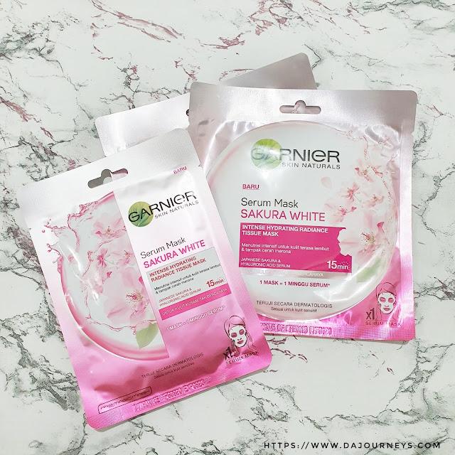 Review Garnier Serum Mask Sakura White