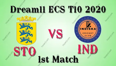 Who will win STO vs IND 1st T10 Match