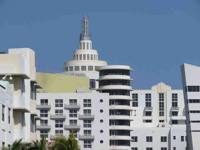Miami South Beach Art Deco Historic District Skyline