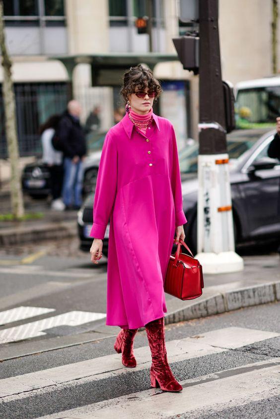 HOT PINK street style fashion