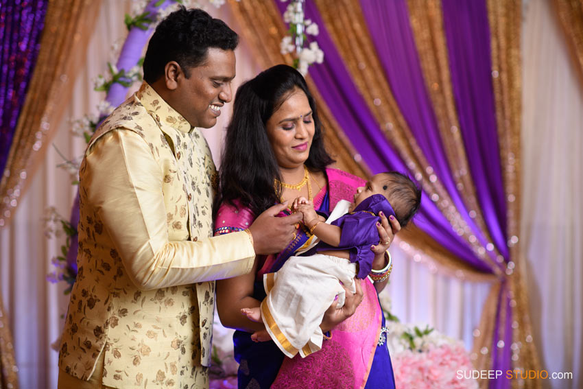 Indian Naming Ceremony Photography Northville Farmington Hills SudeepStudio.com Ann Arbor Indian Event Photographer