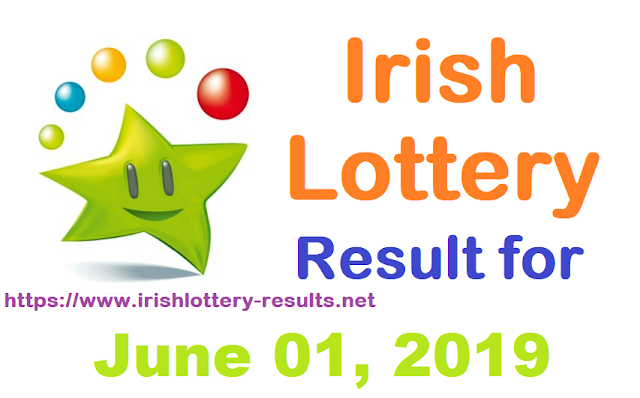 Irish Lottery Results for Saturday, June 01, 2019