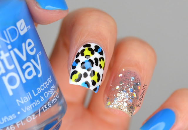 Bright Blue Leopard Nail Art