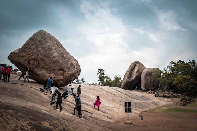 One of the famous sightseeing and photography spots in Mahabalipuram