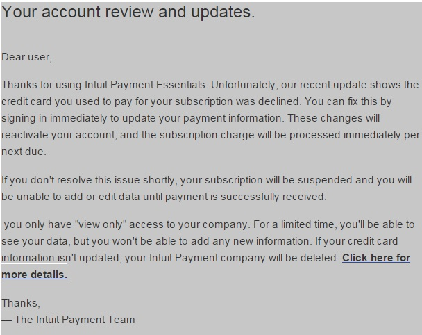 your payment processed has been declined
