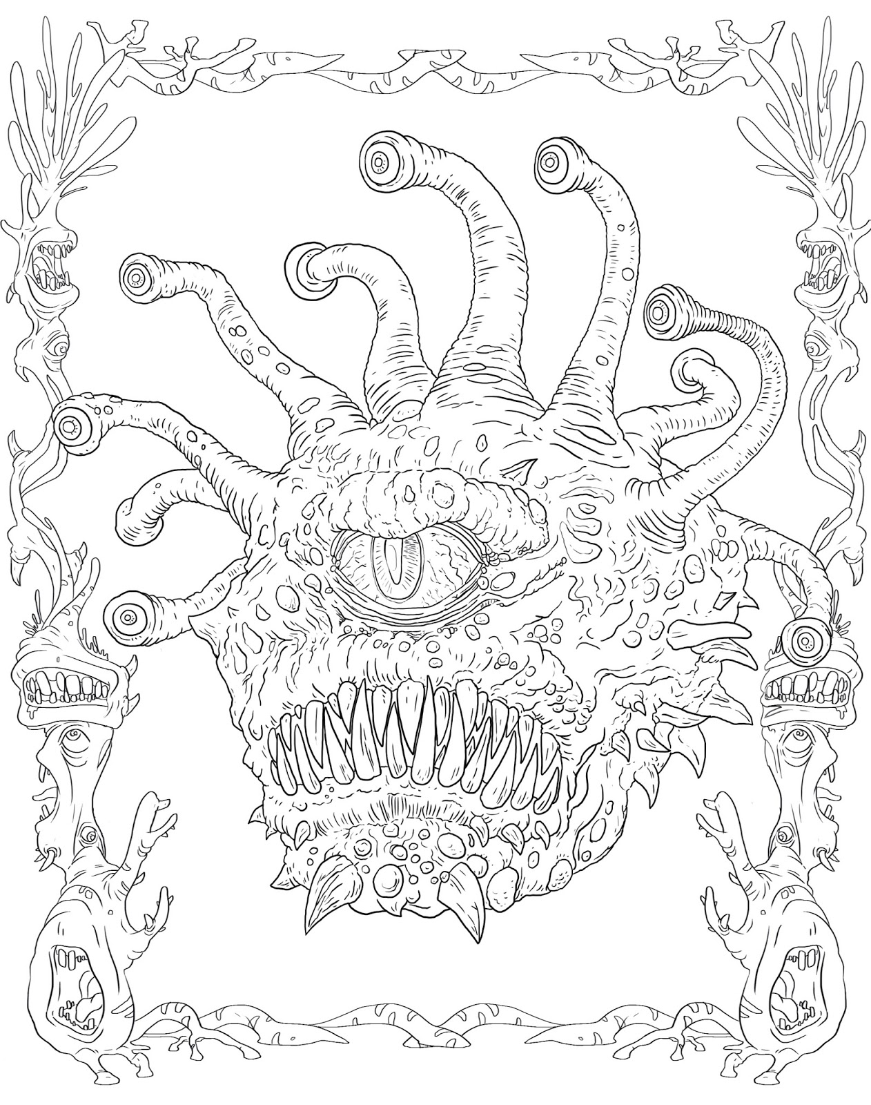 Dungeons And Drago - Free Coloring Pages