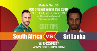 Who will win ICC CWC 2019 35th Match South Africa vs Sri Lanka