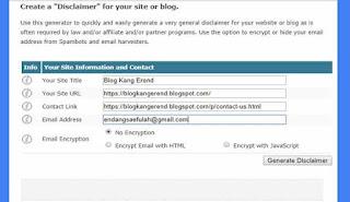 Disclaimer Simple Untuk Website atau Blog