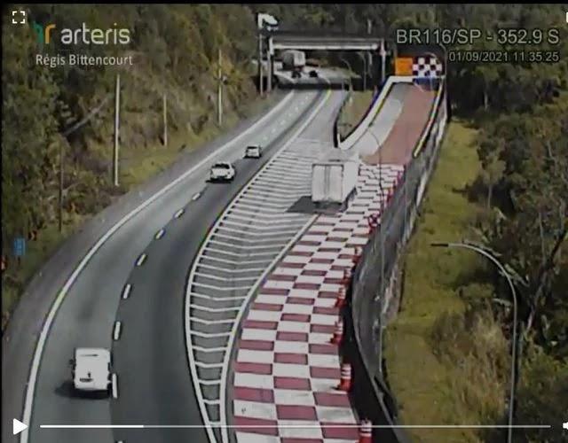 Área de escape da Régis Bittencourt evita mais dois acidentes e salva vidas