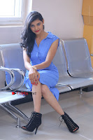 Telugu Actress Mounika UHD Stills in Blue Short Dress at Tik Tak Telugu Movie Audio Launch .COM 0187.JPG