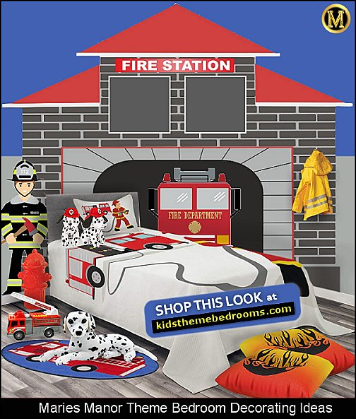 fire truck bedroom ideas firetruck bedding firefighter wall decals dalmatian toys firemen costumes