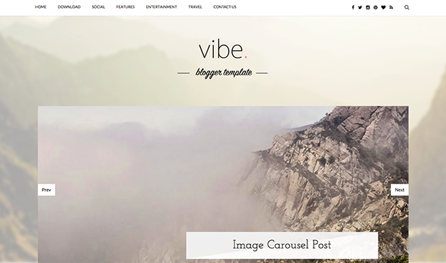 Vibe Responsive Blogger Template Free Download