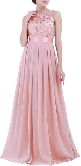 Cheap Pink Chiffon Bridesmaid Dresses