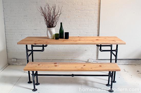 gambar set kursi dan meja unik dari pipa besi
