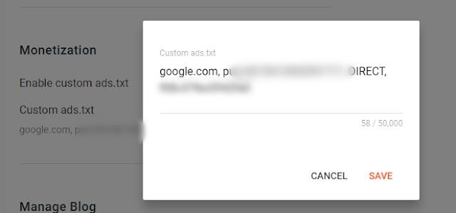 setelan ads.txt pada blogger