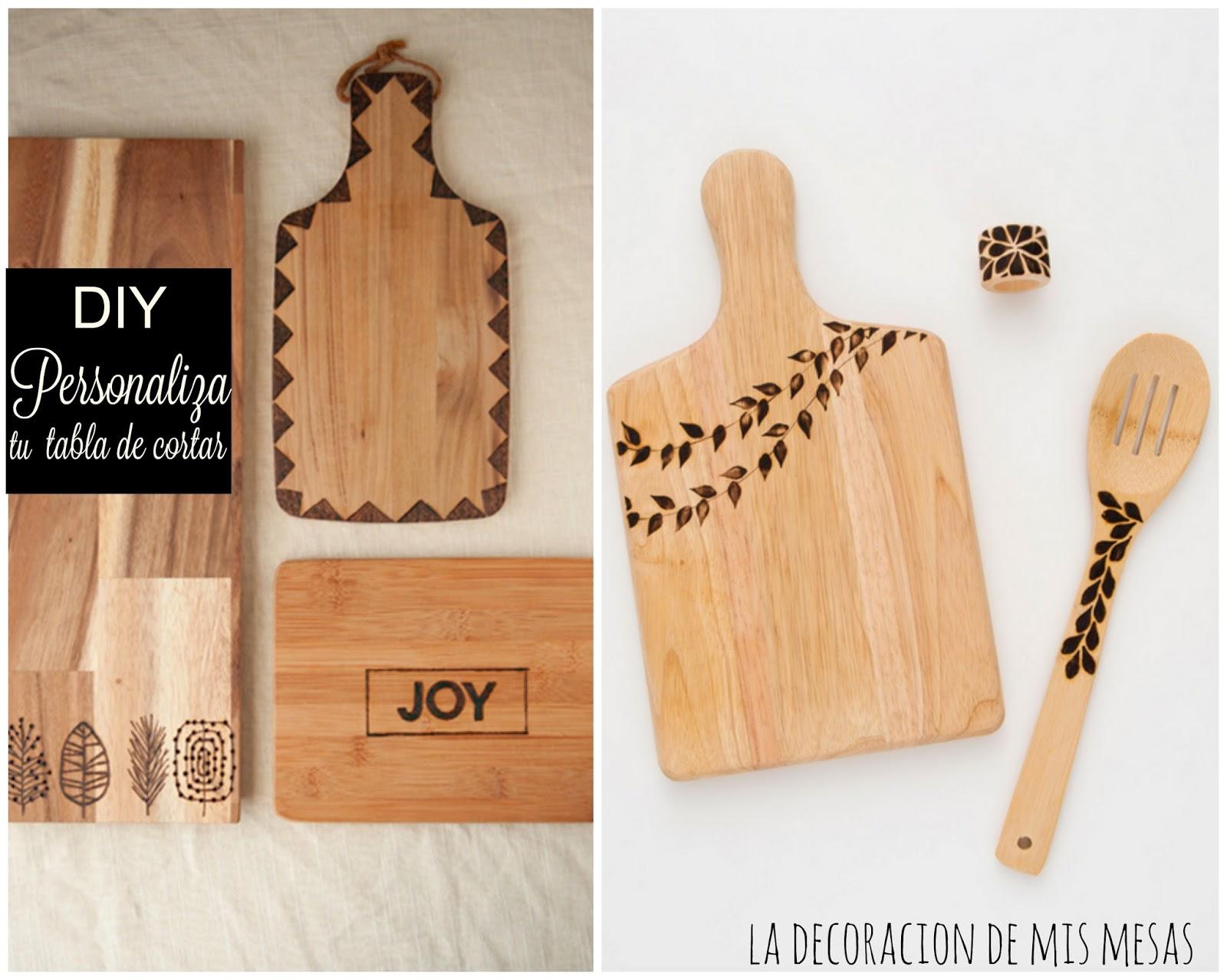 Como personalizar una tabla de cocina for Como hacer una tabla para picar de madera