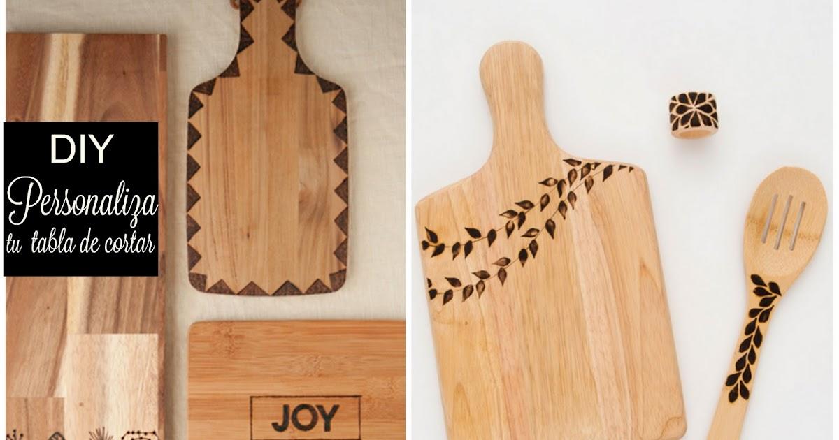 La decoraci n de mis mesas como personalizar una tabla de for Como hacer una tabla para picar de madera