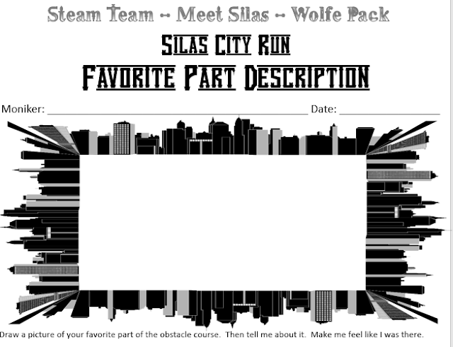Fourth, fifth and sixth grade learners reflect on their Silas City Run experience by drawing then writing about their favorite part using this printable.
