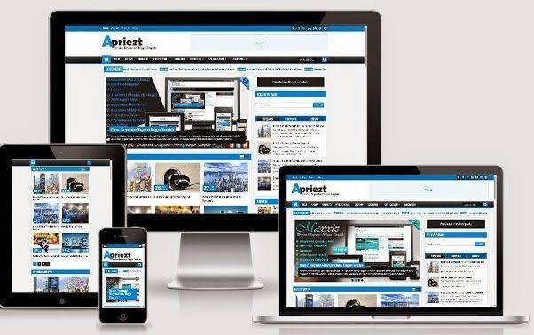 Apriezt Responsive Magazinenews Blogger template .zip