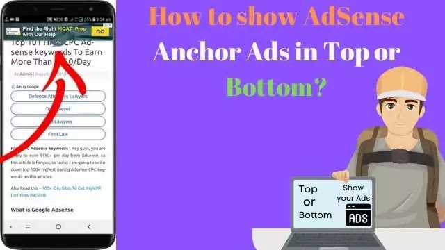 How to show AdSense Anchor Ads in Top or Bottom?