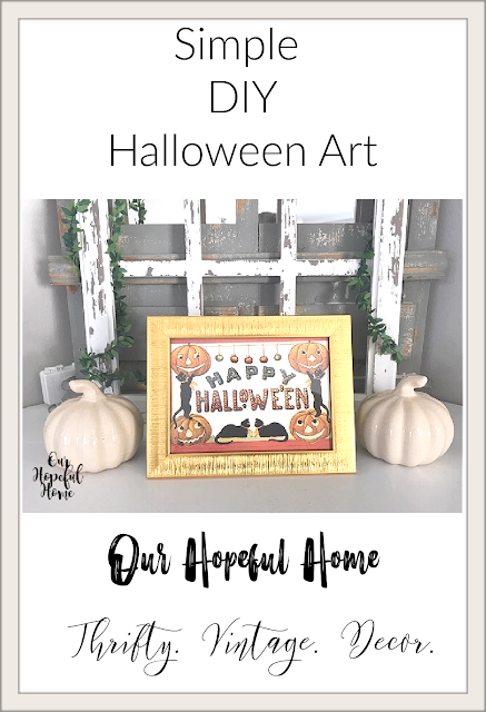 Happy Halloween Dollar Tree Greeting Card gold frame