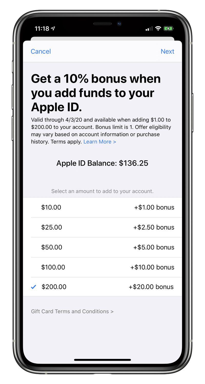 在 4/3 前為 Apple ID 加值:蘋果提供 10% 獎金