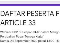 """Forum Kajian Pembangunan   """"Kesiapan SMK dalam Menghadapi Perubahan Pasar Tenaga Kerja"""""""