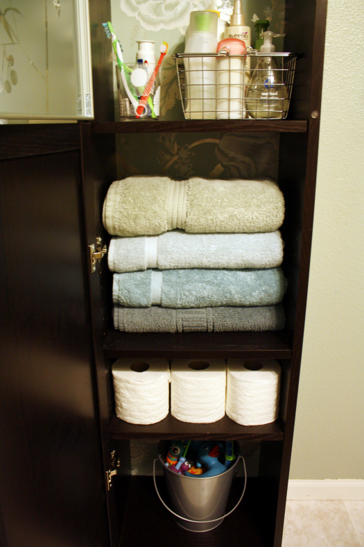 diy home sweet home add more storage to a small bathroom