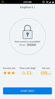 menu awal aplikasi kingroot