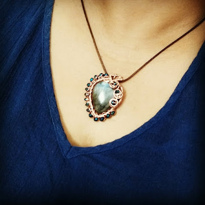 Copper Pendants, Copper Jewelry, Wire Wrapped Jewellery