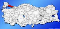 İstanbul ilinin Türkiye haritasında gösterimi