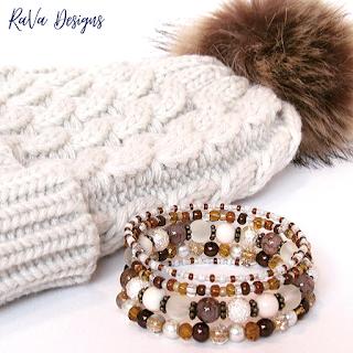 matching bead bracelets pattern ideas snow hat pom pom jewelry