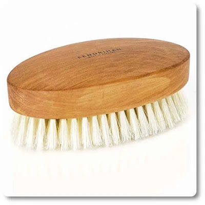 Fendrihan Genuine Boar Bristle and Pear Wood Military Hair Brush