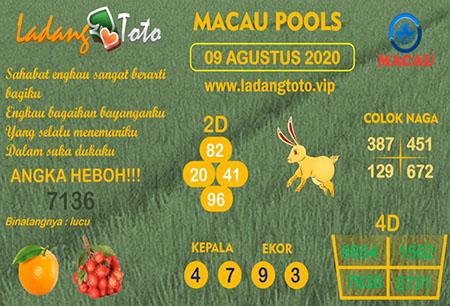 Prediksi Ladang Toto Macau Pools Minggu 09 Agustus 2020