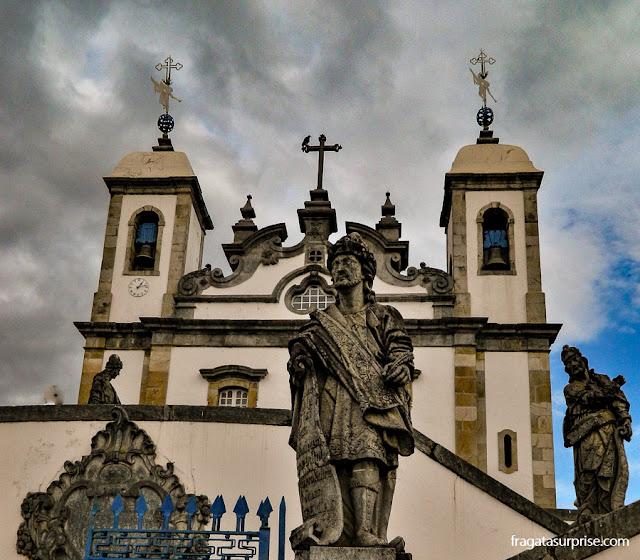 Estátuas dos profetas na Basília do Bom Jesus de Matosinhos