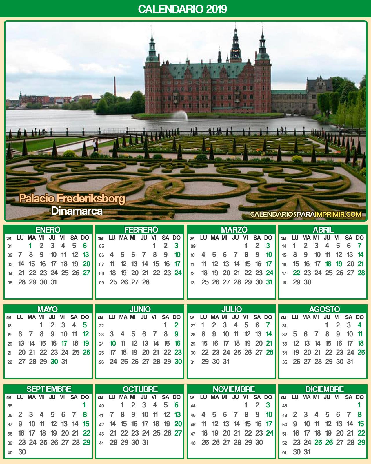 calendario dinamarca 2019