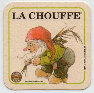 sous-bock de la bière belge La Chouffe