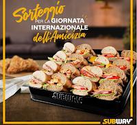 """Logo Subway """"Giornata internazionale dell'Amicizia"""" : vinci gratis servizi di catering"""