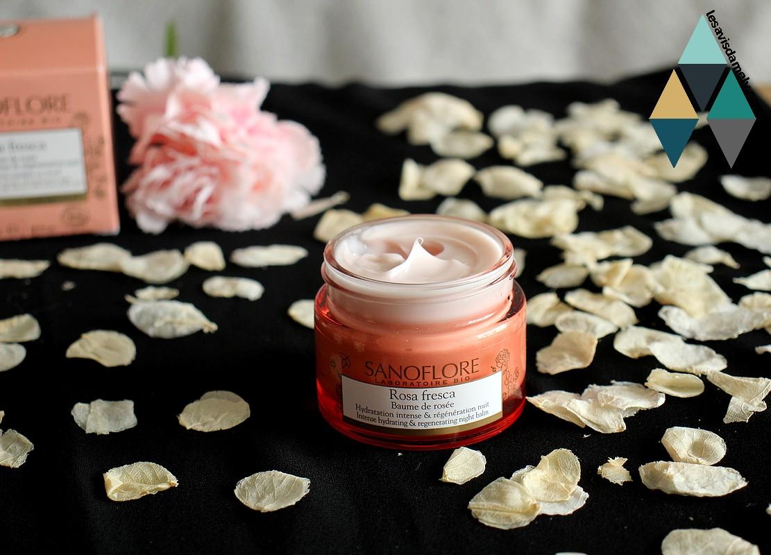avis baume de rosée rosa fresca bio sanoflore hydratant à la rose