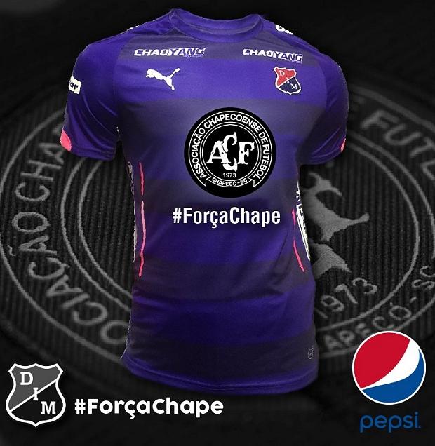 fcbe0f1f93 Independiente Medellín homenageará a Chapecoense em sua camisa ...
