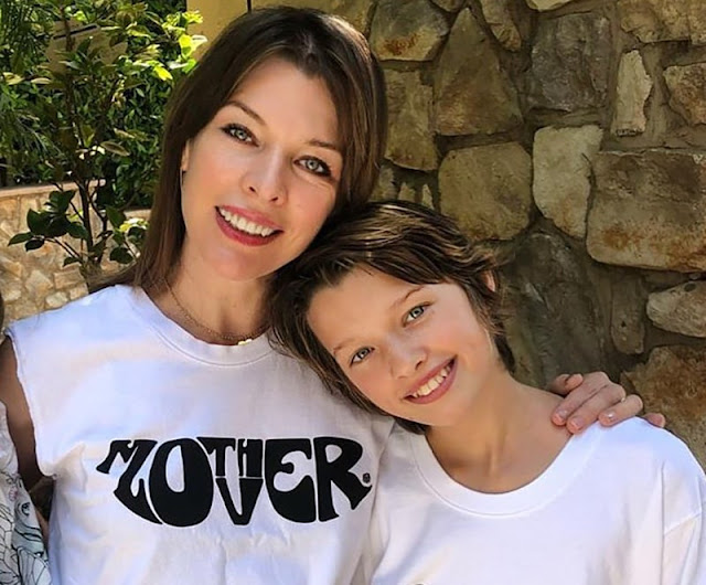 Milla Jovovich and Ever Gabo Anderson