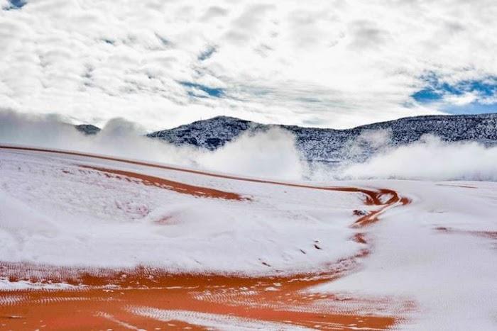 Gurun Sahara Mendadak Tertutup Salju Tebal 40 cm, Fenomena Alam Apa Ini?
