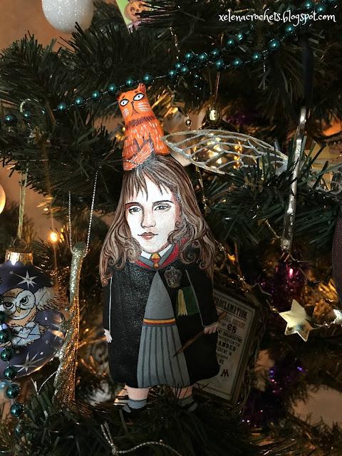 Hermione ornament handmade
