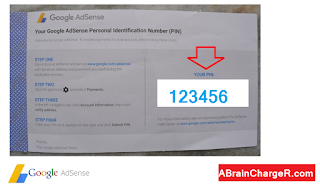 What does the Google adsense PIN mailer look like inside